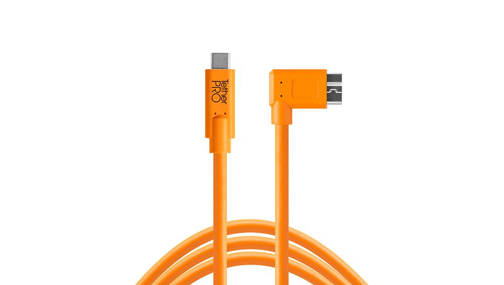 Cable TetherPro USB-C a 3.0 Micro-B Angulado