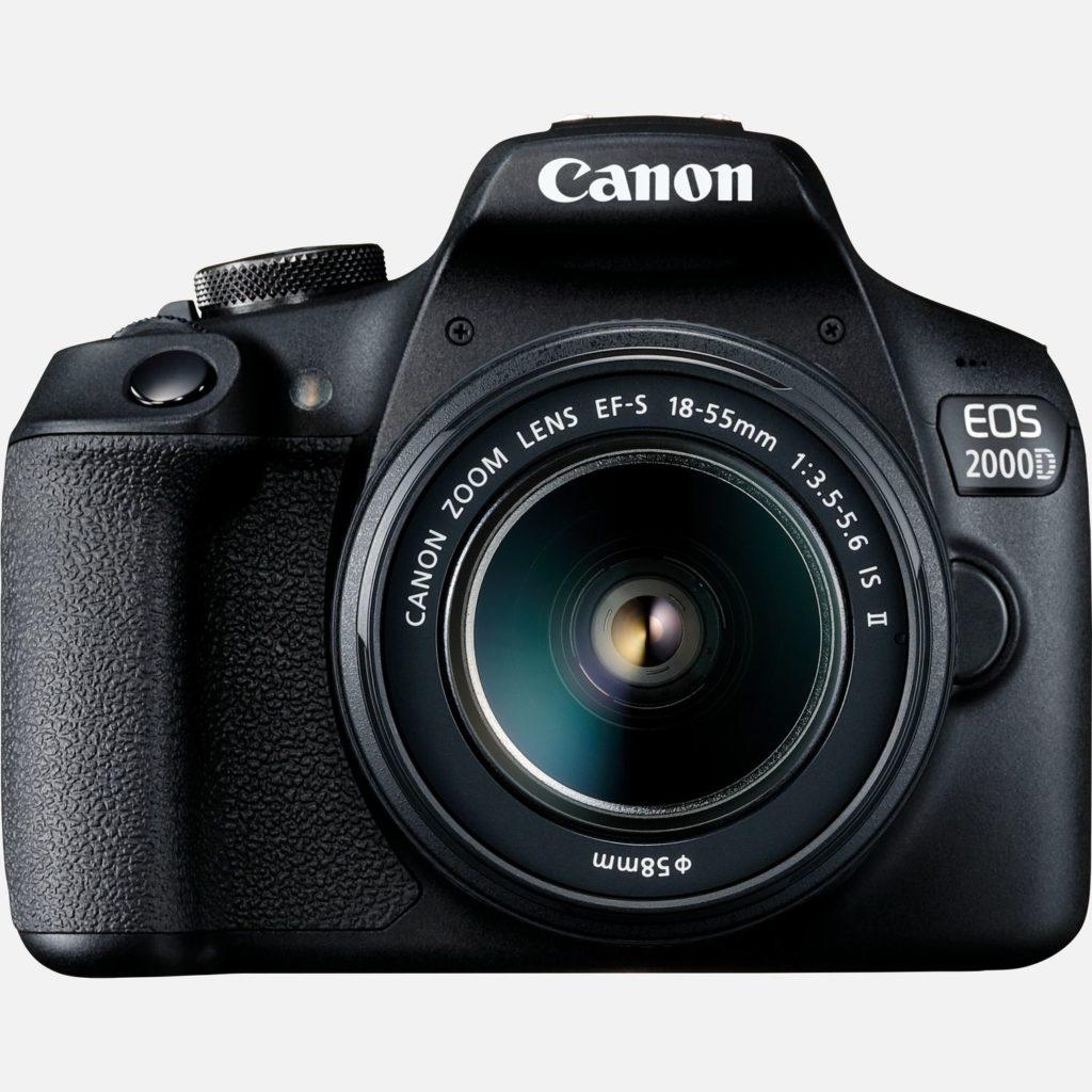 CANON EOS 2000D + EF-S 18-55MM IS II + FUNDA SB130 + SD 16 + GAMUZA - CÁMARA RÉFLEX INICIACIÓN
