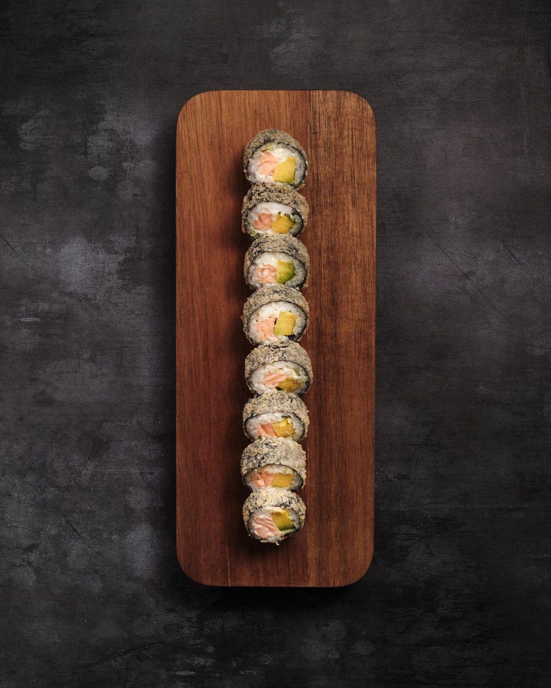 sushi fotografía cenital