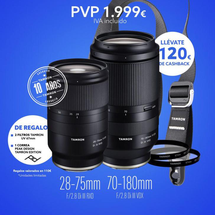 Oferta especial Tamron  28-75mm + 70-180mm