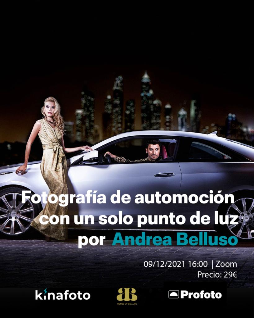 CURSO:  Fotografía de automoción con una sola luz con Andrea Belluso