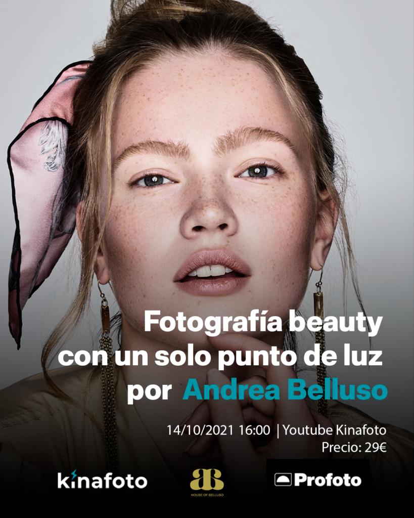 CURSO: Fotografía beauty con una sola luz con Andrea Belluso